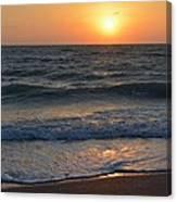 Sun Glistening On The Water Canvas Print