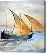 Sun In The Sails  Canvas Print