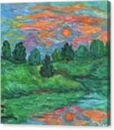 Sun In Water Canvas Print