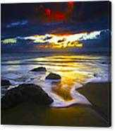 Sun Is Setting Canvas Print