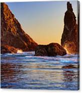 Sun Kissed Sea Stacks Canvas Print