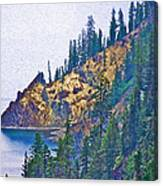 Sun Notch On A Rainy Day At Crater Lake National Park-oregon Canvas Print