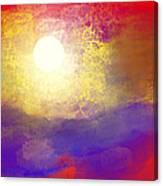 Sun Over The Canyon Canvas Print