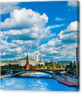 Sun Over The Old Cathedrals Of Moscow Kremlin Canvas Print
