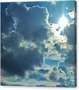 Sun Peeping Out Canvas Print
