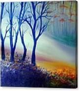 Sun Ray In Blue  Canvas Print