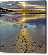 Sun Ray Sunset Saltburn Canvas Print