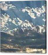 Sun Rays Through The Clouds   # Canvas Print