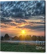 Sun Rays Vs Rain Clouds Canvas Print