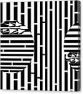 Sun Re-rising Maze Canvas Print