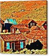 Sun Setting On Bodie Canvas Print
