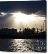 Sun Shining Through Clouds Canvas Print