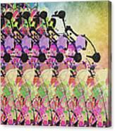 Sun Showers On Flowers Canvas Print