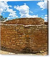 Sun Temple-1250 Ad In Mesa Verde National Park-colorado Canvas Print