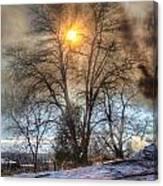 Sun Thru Smoke Canvas Print