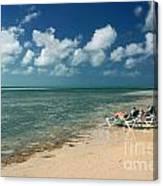 Sunbathers On The Beach Canvas Print