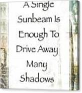 Sunbeam In The Piazza Canvas Print