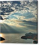 Sunbeams On Dubrovnik Canvas Print