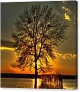 Sunblock A Sunset On Lake Oconee Canvas Print