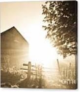 Sunburst On The Farm Canvas Print