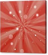 Sunburst Snow Red Canvas Print