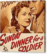 Sunday Dinner For A Soldier, Us Poster Canvas Print
