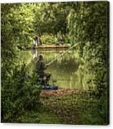 Sunday Fishing At The Lake Canvas Print