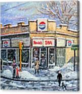 Sunday Morning At Renie's Spa Canvas Print
