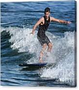 Sunday Morning Surfing Canvas Print