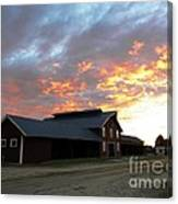 Fire In The Sky Sunday Canvas Print
