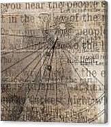 Sundial With Les Miz Canvas Print
