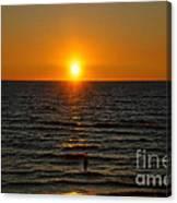 Sundown Admiration Canvas Print