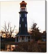 Sundown Dwight Windmill Canvas Print