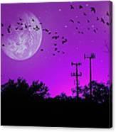 Sundown Fantasy - Violet Canvas Print
