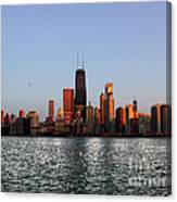Sundown In The Chicago Canyons Canvas Print