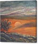 Sundown In Vail Az Canvas Print