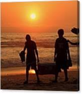 Ocean - Sundown Sunset Canvas Print