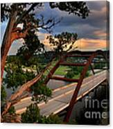 Sundown On Pennybacker 360 Canvas Print