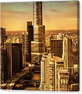 Sundown On Trump Tower Canvas Print