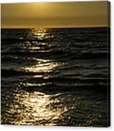 Sundown Reflections On The Waves Canvas Print