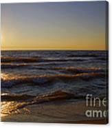 Sundown Scintillate On The Waves Canvas Print