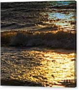 Sundown Shimmer On The Waves Canvas Print