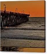 Sundown Surfing Canvas Print
