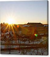 Sunflare At The Museum Canvas Print