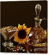 Sunflower And Crystal Canvas Print