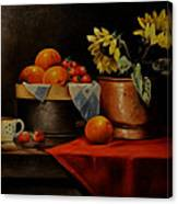Sunflower And Fruits Canvas Print
