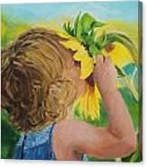 Sunflower Annie Canvas Print