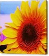 Sunflower At Beach Canvas Print