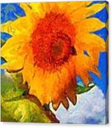 Sunflower - Bee Happy Canvas Print