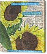 Sunflower Dictionary 2 Canvas Print